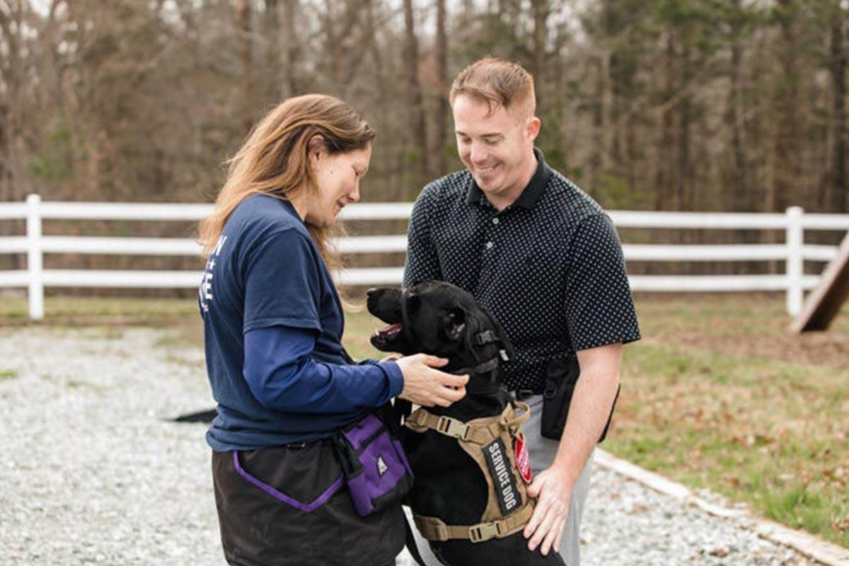 Veteran with service dog